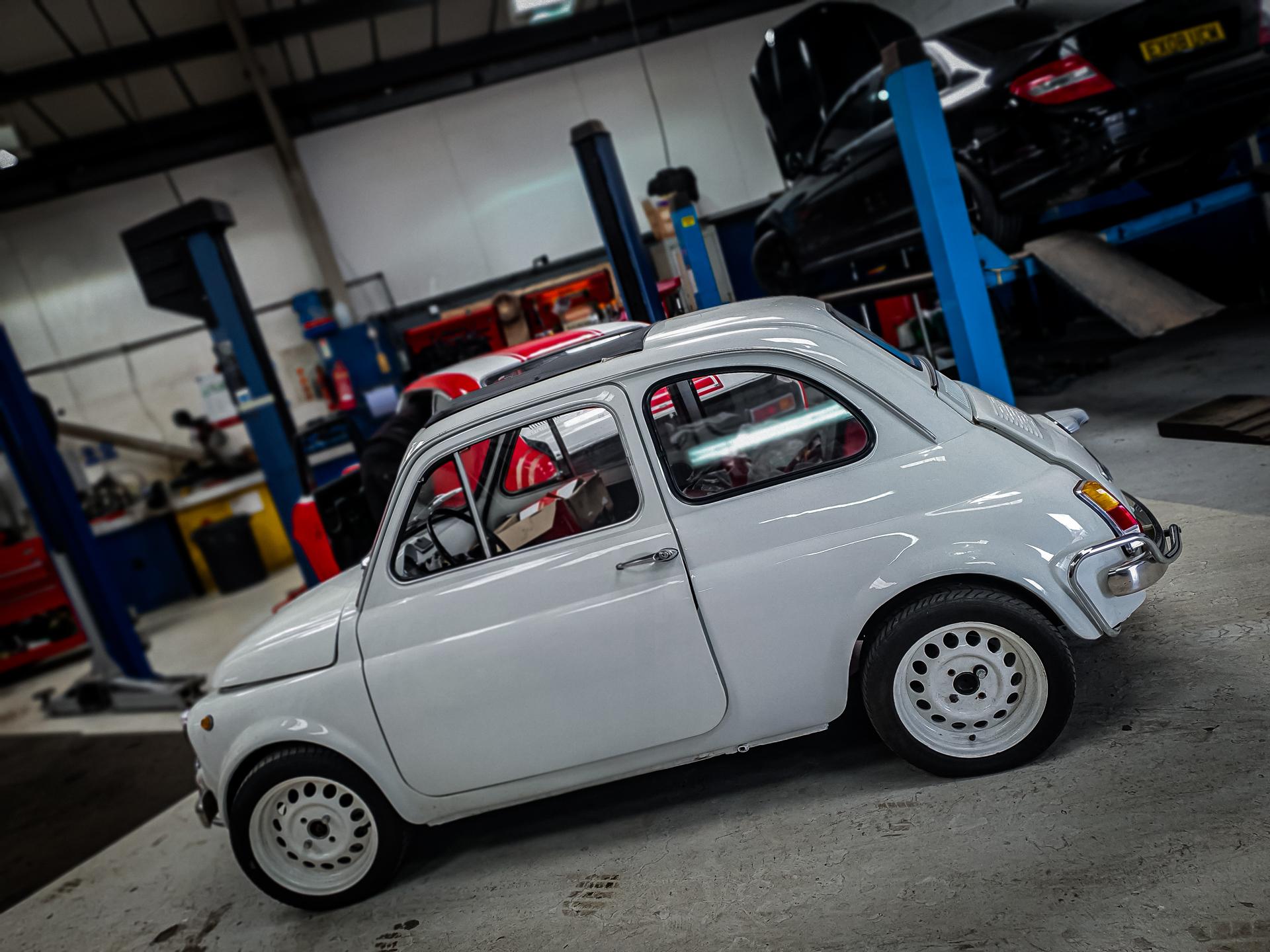 fiat 500 classic white restoration willingborough